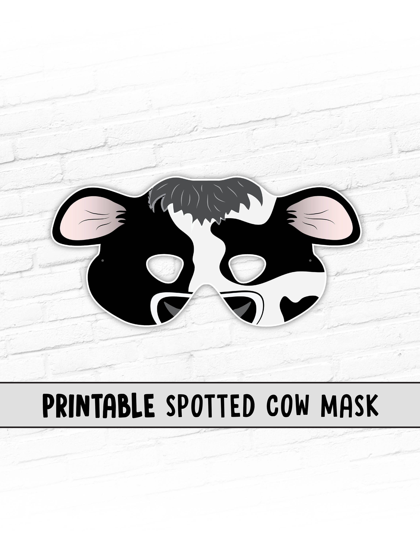Versatile image with regard to printable cow costume