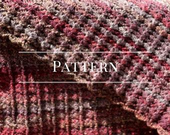 Afghan, scalloped crochet blanket