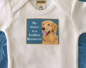 Golden Retriever Bodysuit/Baby Clothes/Baby Boys' Bodysuit/Baby Girls' Bodysuit/Baby Shower Gift/Toddler tee shirt