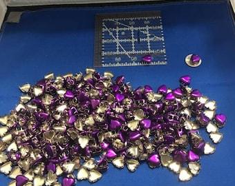 Purple Stud Hearts