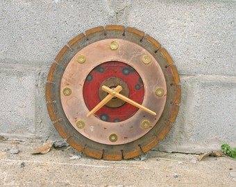 Rustic Saw Blade Clock Industrial Wall Clock 12 Gauge Shotgun Shell Unique Large Clock Texas Decor Boyfriend Gift Office Wall Hunter Gift