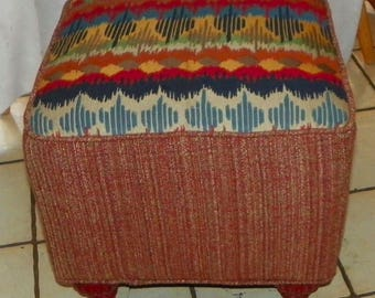 Southwest Print Footstool / Stool (ST138)