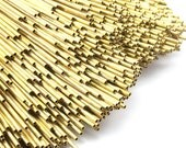 Brass Himmeli 2mm Tubes, 24 Raw Brass Himmeli Diy Tube Beads, For Air Plants , Geometric Shapes Customize Size -2mm-