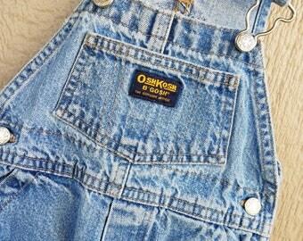 Classic OshKosh Blue Denim  Overalls 12 Months
