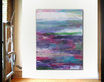 Original large abstract painting palette knife wall art deco by Elsisy 48x36 Free US shipping