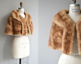 Richland Furs mink stole | vintage 1950s mink stole | autumn haze 50s mink wrap