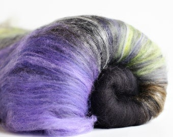 Howl 2.8 oz  Wool - Merino - Art Batt // Wool Art Batt for spinning or needle felting