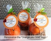 Custom Order for Athalia King KIT Orange You Glad We're Friends/ PERSONALIZED TAG / Classroom Treat / Gift from Teacher / Party favor