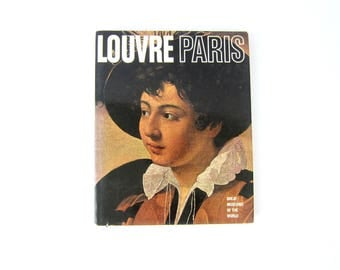 1967 Louvre Paris Great Museums of the World Book Decor Paper Ephemera Hardcover Art History Artist Book