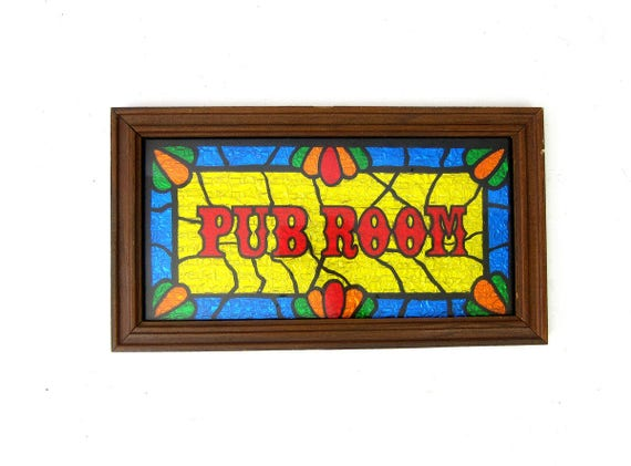 Vintage glass Pub Room Bar framed picture Retro Wall Hanging Art Painted Tin Foil Home Decor Man Cave Retro Glitter Art Sign