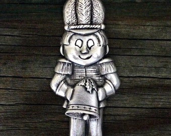 Little Toy Soldier Pewter Christmas Ornament