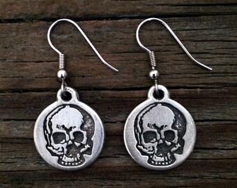 Yorick's Skull Earrings | Steampunk Earrings | Skull Jewelry | Steam Punk Jewelry | Skull Earrings | by Treasure Cast Pewter