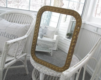 Vintage Gesso Mirror * Shabby Chic * French Cottage * Old Farmhouse