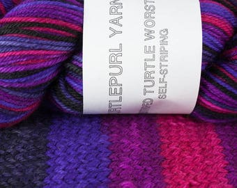 Derby - Hand-Dyed Self Striping Worsted Yarn