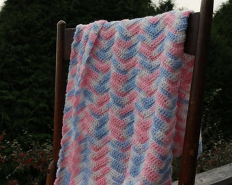 Soft Pink baby blue crisp white baby afghan Crochet heirloom baby blanket pink princess blanket 26x26 cozy newborn snuggle blanket