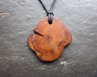 Unique Natural Wood Pendant - Camellia - for Riches.
