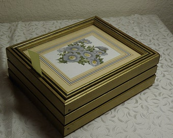 Vintage Wooden Box with Mirror for Jewelry or Makeup