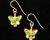 Cloisonne Butterfly Earri...