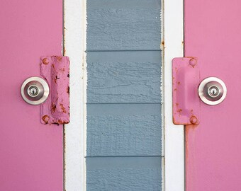 Two Pink Doors Photo in Multiple Sizes