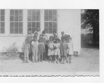 1930s  photograph of a group African Americans students one room school house a reprint from original photograph