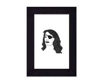4 x 6 Framed Nadine Hurley / Twin Peaks Portrait
