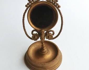 Antique Pocket Watch Stand with Ring Tray Keepsake Fabulous Display Item