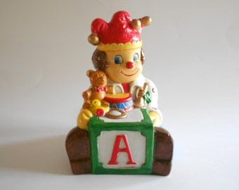 Clown Figurine Clown Music Box Christmas Music Box Toyland Vintage Music Box Home Decor Christmas Decor Porcelain Music Box
