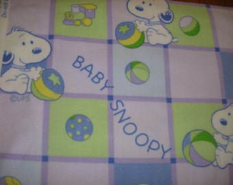 "Baby Snoopy Peanuts Charlie Brown SMALL 30x30:""f infant newborn swaddling leece blanket"