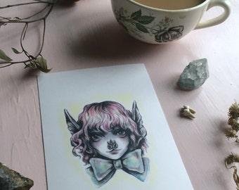 She's A Bat 4x6 art print