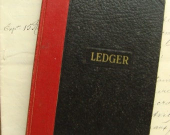 Antique 1952 Amazing Diary Journal Ledger Book Very Interesting Times