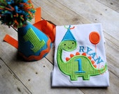 Dinosaur birthday shirt. Dino birthday. Custom birthday shirt. Personalized birthday shirt. Dinosaur birthday. Boy's birthday.