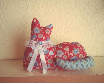 Cat, Kitten, Cloth Doll, Collectible, Baby shower, Bookend