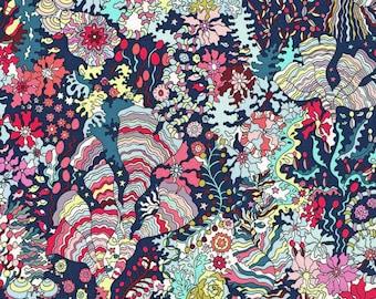 Liberty Fabric Tana Lawn Half Yard Ocean Forest A