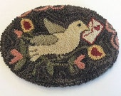 Needle punch pattern  - punch needle pattern - hooked rug pattern Love's Messenger