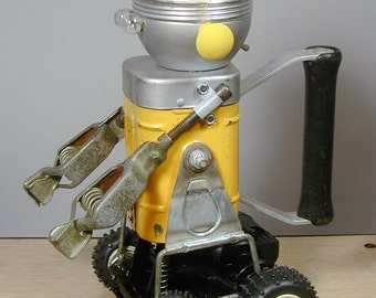 RUGGLES Found Object  Robot Sculpture Assemblage