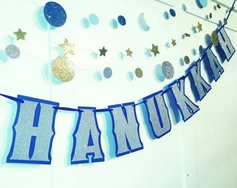 Items similar to Happy Hanukkah Banner- Hanukkah Decoration ...