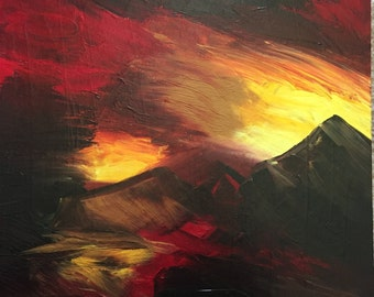 Alien Landscape: Acrylic painting