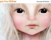 CHRISTMAS SALE 5x7 Art Print - 'Darkheart' - Premium Giclee Fine Art Print Small Sized - Little Girl with Dark Eyes