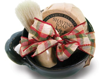 Shaving Set with shave soap, ceramic bowl & shave brush