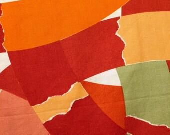 "Mod 70s Julian Tompchin Design Fabric// Mod Scandinavian Vibe// Cotton Yardage// Upholstry// Home Decor// New Old Stock// 48"" x 58"""