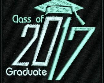 2017 Graduate machine embroidery design