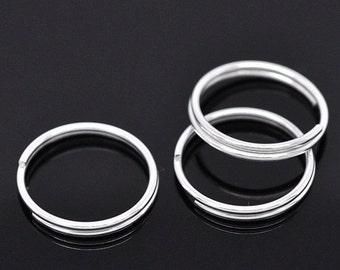 ON SALE JumpRings, Double Loops, Silver Plated Split Rings 16mm, 25pcs