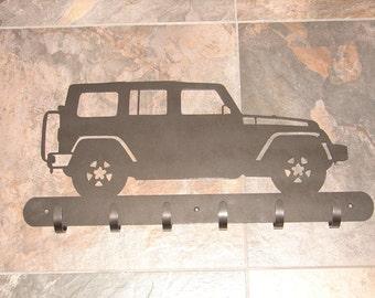 Jeep Rubicon COAT RACK Robe Hook Metal Cabin Garage Hanger 4x4 Wrangler 4 door