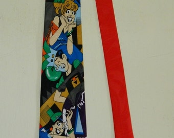 "59"" by 3.75"" Archie Comics 1994 Novelty Print Tie  Archie Comic Publications Tie"