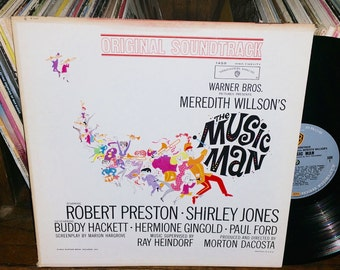 The Music Man Vintage Vinyl Broadway Musical Soundtrack Record