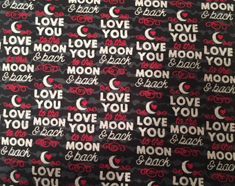 Love You To The Moon and Back Boutique Crib/Mini Crib Nursery Toddler Bedding Set