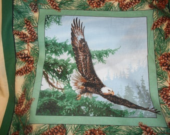BTY Pillow Panels Eagles Nature cotton by Springs