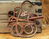 Dragon Leather Barrette Reniassance , SCA, Steampunk , LARP