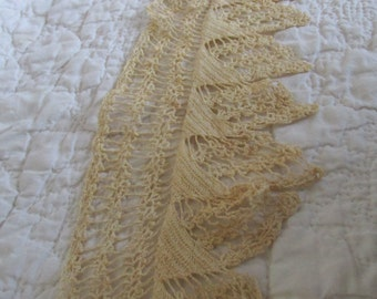 "Vintage Piece of wide lace 19"" x 4 5/8"" wide"