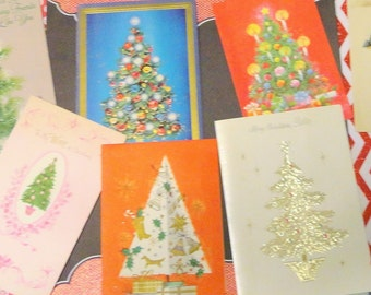 Modern Look at the Traditional Christmas Tree in Vintage Christmas Lot No 951 Lot of 12